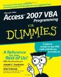Access 2007 VBA Programmer's Reference (Programmer to Programmer)
