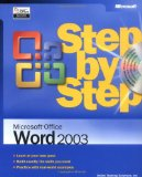 Microsoftu00ae Office Word 2003 Step by Step (Step by Step (Microsoft))