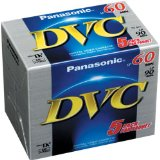 Panasonic AY-DVM60EJ5P MiniDV Tapes (60 Minute, Pack of 5)