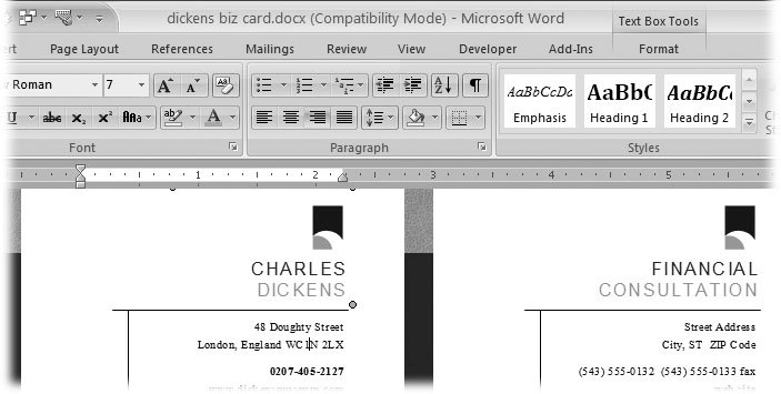 Section 5.2. Choosing a Template | Word 2007c The ...