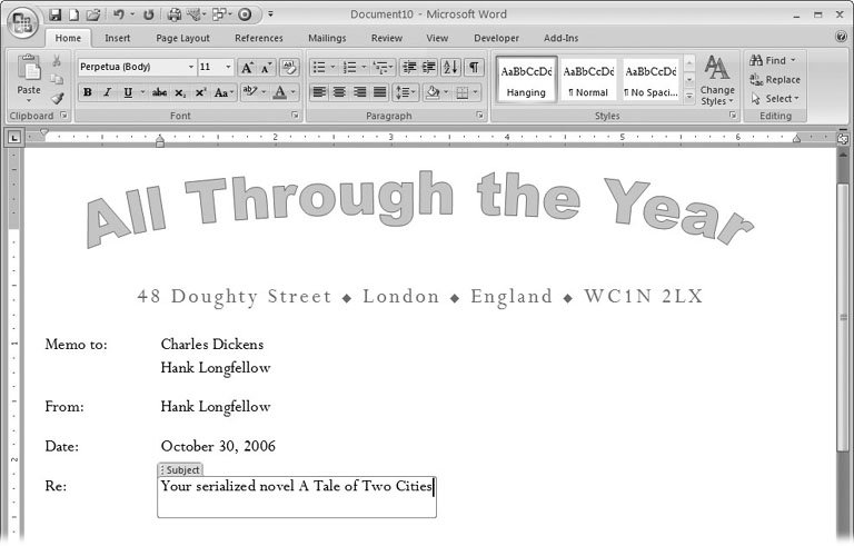 Section 202 Designing Document Templates – Microsoft Word Memorandum Template
