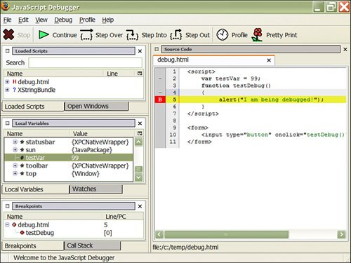 Debugging Web User Interfaces Using Firefox | Agile Java
