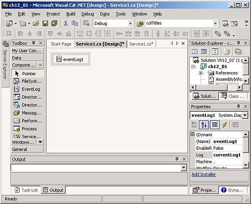 Creating Windows Services | Microsoft Visual C# NET 2003