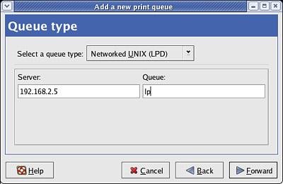 how to create print queue