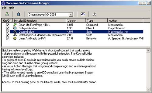 Extending Macromedia Dreamweaver   Special Edition Using