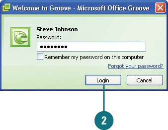 Launching Groove Microsoft Office