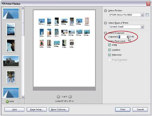 how to create a contact sheet in photoshop