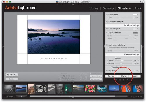 Playing Your Slide Show | The Adobe Photoshop Lightroom 2 Book for