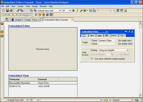 Using Embedded Elements | Advanced Form Design