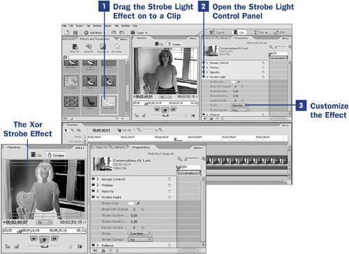 how to add a strobe effect in premiere