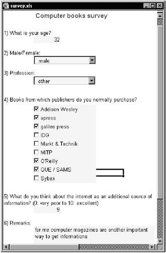 questionnaire template excel .