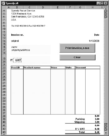 9.2 example: the speedy invoice form - linux application, Invoice examples