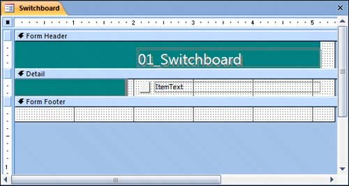 Creating A Switchboard Microsoftr Office Accesst 2007 Step By Step