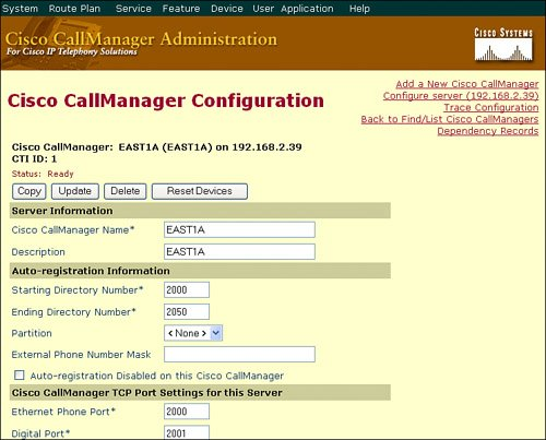 IP Phone Configuration | Configuring Cisco Unified CallManager to