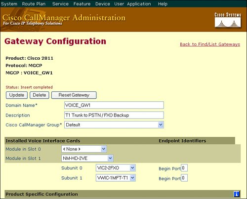 Configuring Access Gateways | Configuring Cisco Gateways and