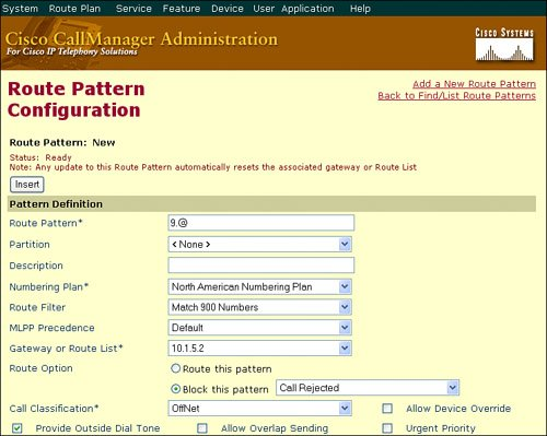 Route Filters | Cisco Unified CallManager Advanced Route Plans