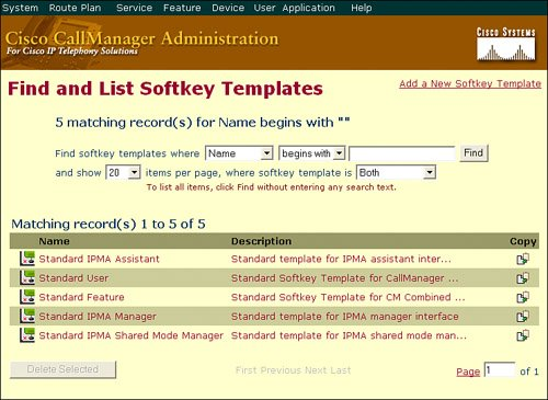 Softkey Templates | Configuring User Features, Part 1
