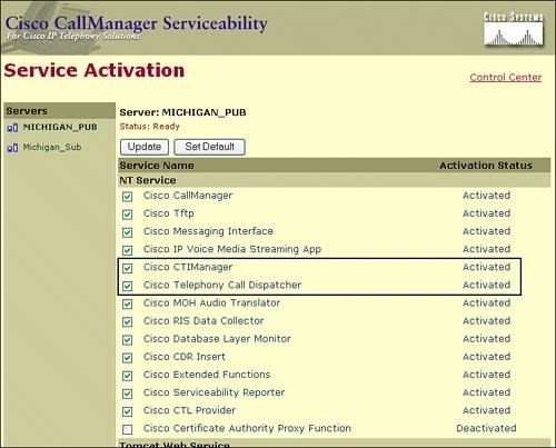 Server and Administration Configuration   Configuring Cisco