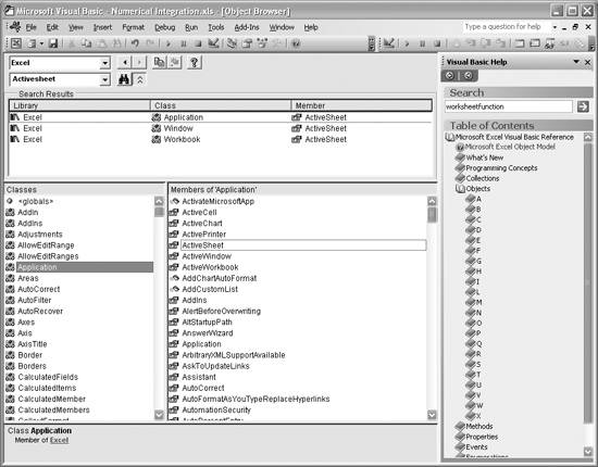 Exploring Excel Objects | Getting Acquainted with Visual Basic for
