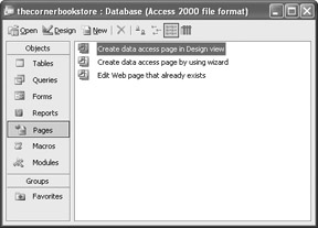 Data Access Pages   Microsoft Access VBA Programming for the
