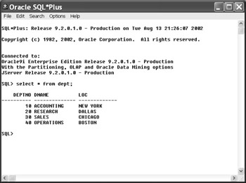 Tools for Running SQL | Oracle9i DBA JumpStart