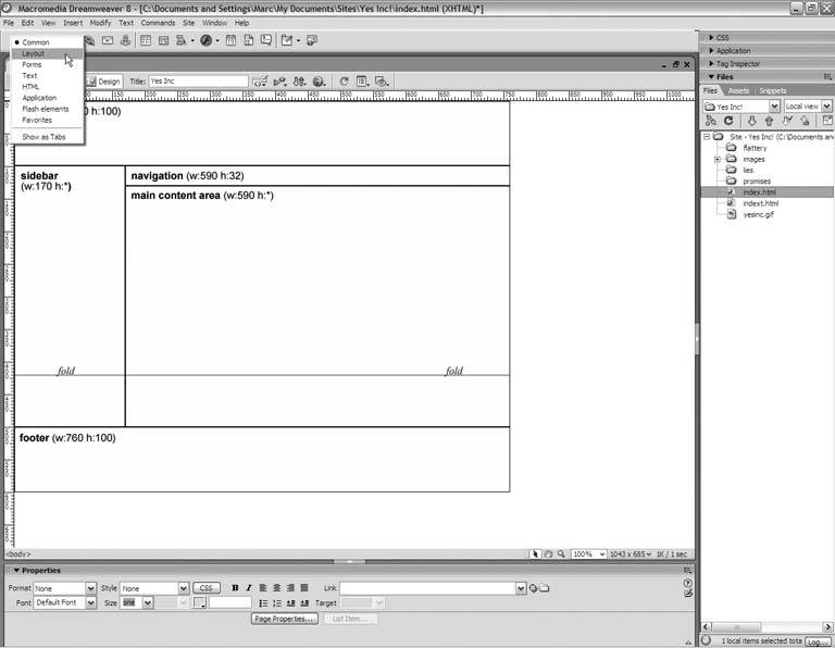 Drawing Lines In Dreamweaver : Section centering a fixed width layout dreamweaver
