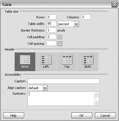 Using server side xslt in dreamweaver 8 macromedia for Html table border width