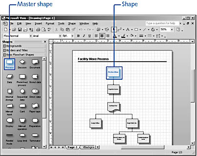 figure 1-1. visio provides you with diagramming tools that are specific to the type of drawing you choose to create