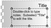 figure 4-5. the note box shape from the borders and titles stencil is really a group.