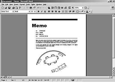 Working with ole microsoft visio version 2002 inside out inside figure 7 1 with ole you can embellish an ordinary word memo by ccuart Images