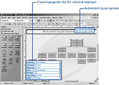 figure 10-1.  you can use a diagram to track information about employees as custom properties, which you can create or import.