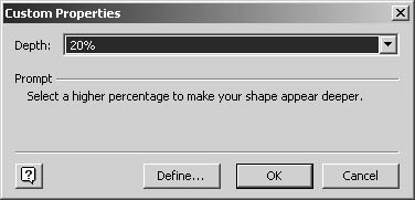 figure 11-10. you can change the shadow depth for a single shape to make it appear more or less prominently.