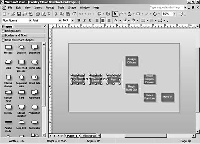 figure 13-13.  to animate a visio diagram so that sections of it appear one by one in powerpoint, copy and paste each section you want to animate separately.