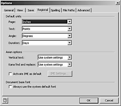 Setting Up Measurements in a Diagram | Microsoft Visio Version 2002 ...