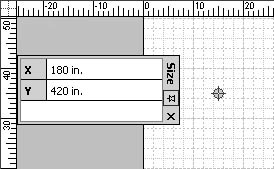 figure 16-26. for precise position, type new x and y values for a selected guide point in the size & position window (choose view, size & position window).