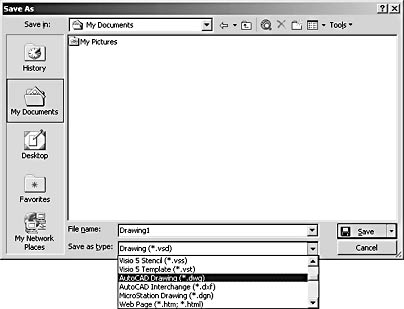 how to convert visio drawing to pdf file