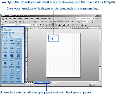 figure 21-16.  you can save the settings and shapes you use most as a reusable template.