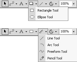 figure 22-2. to draw new shapes, use the drawing tools on the standard toolbar.