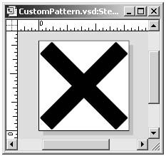 figure 23-11. to create a custom pattern you design the single element that will be repeated when the pattern is applied; in this case it is a simple × shape.