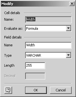 figure 24-4.  when you export shape properties, you can change how visio maps property names and values to database fields.