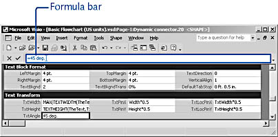 figure 25-3. when you select a cell, its formula is shown on the formula bar. you can type directly in cells or use the formula bar to enter and edit formulas.