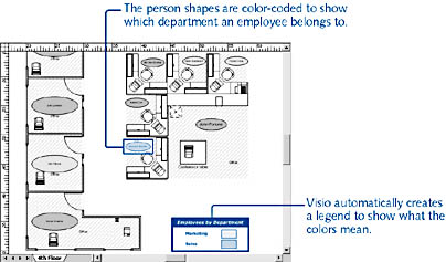 Formatting the Data in Your Space Plan   Microsoft Visio
