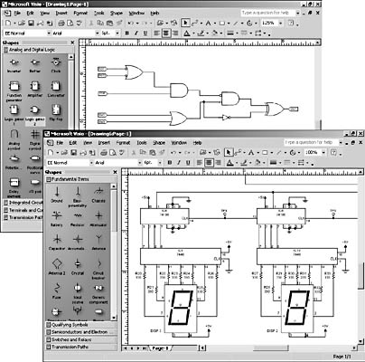 figure 27 8 with the electrical engineering templates you can create logic diagrams - Visio Shapes Electrical