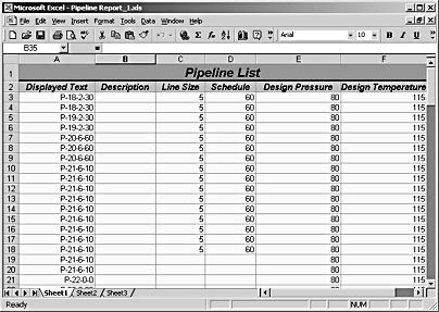 figure 27-31. the built-in pipeline list report can be generated as a microsoft excel file for further analysis. you can also generate reports in html, xml, and other formats.