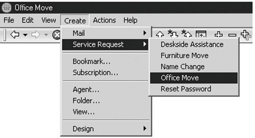 Working with Application Menus   Domino Design Elements