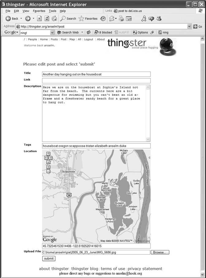 Hack 50. Geoblog with Google Maps in Thingster | Google Maps in ...