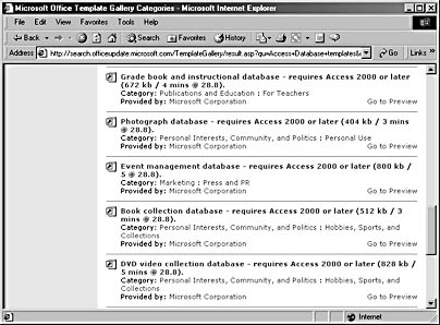 using the database wizard to create a database from a database