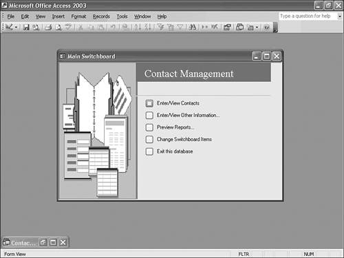microsoft access 2003 templates - creating an access application from a template file