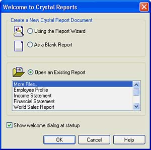 Introducing the Crystal Reports Designer | Creating and