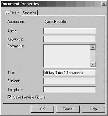 Using Template Field Objects | Crystal Reports XI Official Guide